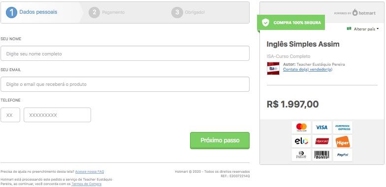 Como comprar o curso Inglês Simples Assim - ISA na Hotmart